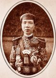 Emperor Khải Định (8 October 1885 – 6 November 1925) was the 12th Emperor of the Nguyễn Dynasty in Vietnam. His name at birth was Prince Nguyễn Phúc Bửu Đảo. He was the son of Emperor Đồng Khánh, but he did not succeed him immediately. He reigned only nine years: 1916 - 1925.