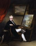George Chinnery (5 January 1774 – 30 May 1852) was an English painter who spent most of his life in Asia, especially India and southern China. Chinnery was born in London and after training in England became a famous portrait painter in Ireland by 1802. He married his wife Marianne on 19 April 1799 in Dublin. His father owned several trading ships and his elder brother, William Chinnery, owned what is now Gilwell Park. He was a close friend of the artist, William Armfield Hobday.<br/><br/>  Chinnery ran into debt and went to India in 1802 on a ship named Gilwell. He there re-established himself as a painter, but debt prompted a move again in 1825, when he went to southern China. While in China, he mentored Lam Qua, who eventually became a renowned medical portrait painter. He travelled around the Pearl River Delta, between Macau and Canton (now Guangzhou). He had been to Hong Kong after the British founded the city, and subsequently fell ill. He died in Macau in 1852 and is buried in the Old Protestant Cemetery there.<br/><br/>  Other than artistic value, his paintings are historically valuable as he was the only western painter in South China between the early and mid 19th century. He presented the life of common people and landscape of the Pearl River delta at that period. Chinnery left sketches for creation of other paintings.